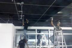 Durante a instalação - CCTV Latin America - China Central Television /São Paulo