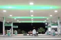 Posto de gasolina - Minas Gerais - LEDs digitais: Verde