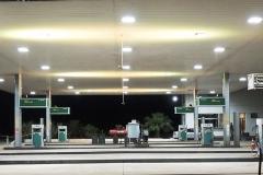 Posto de gasolina - Minas Gerais - LEDs digitais: Branco