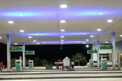 Posto de gasolina - Minas Gerais - LEDs digitais: Azul